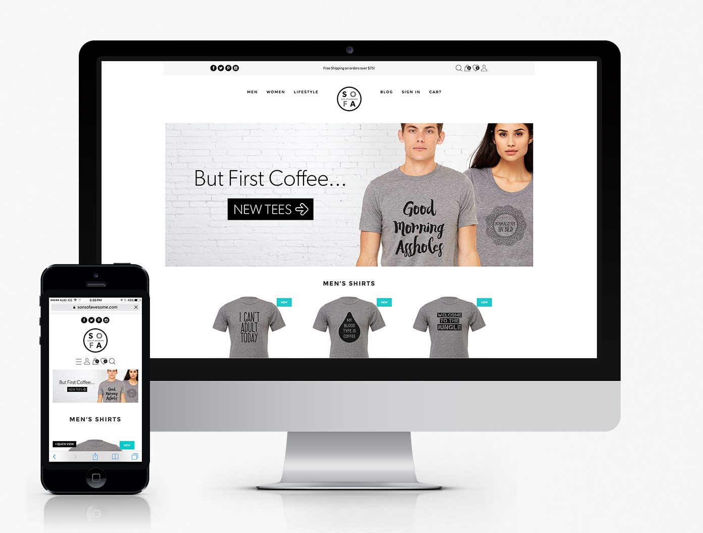 Sons Of Awesome WooCommerce Website