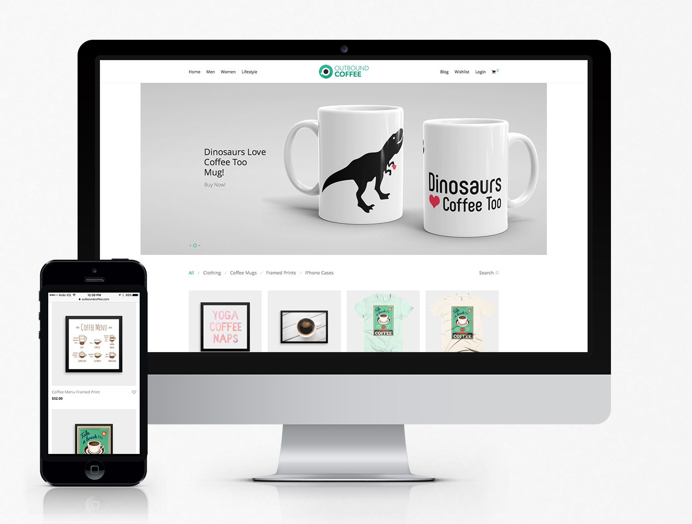 Outbound Coffee WooCommerce Website
