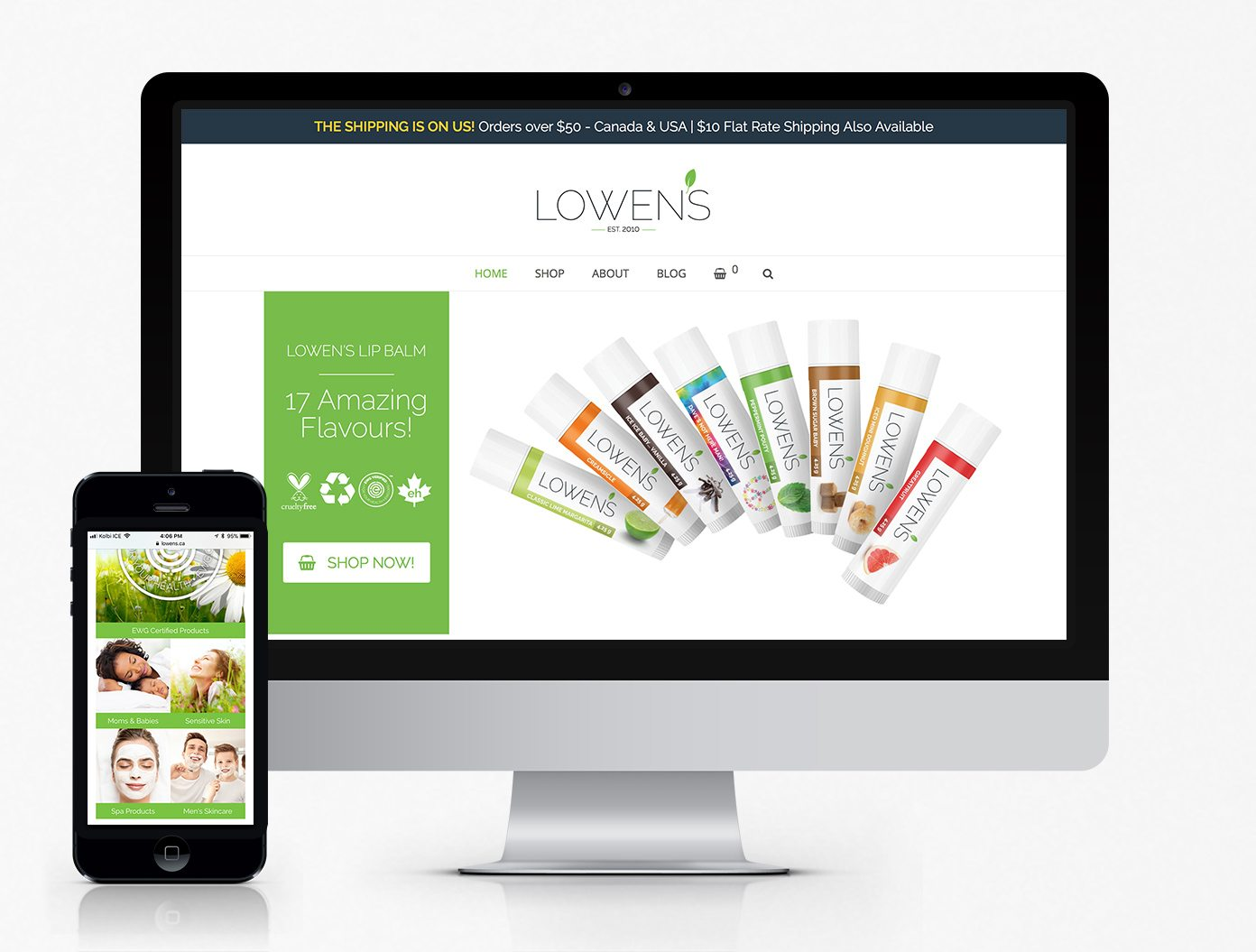 Lowen's WooCommerce Website
