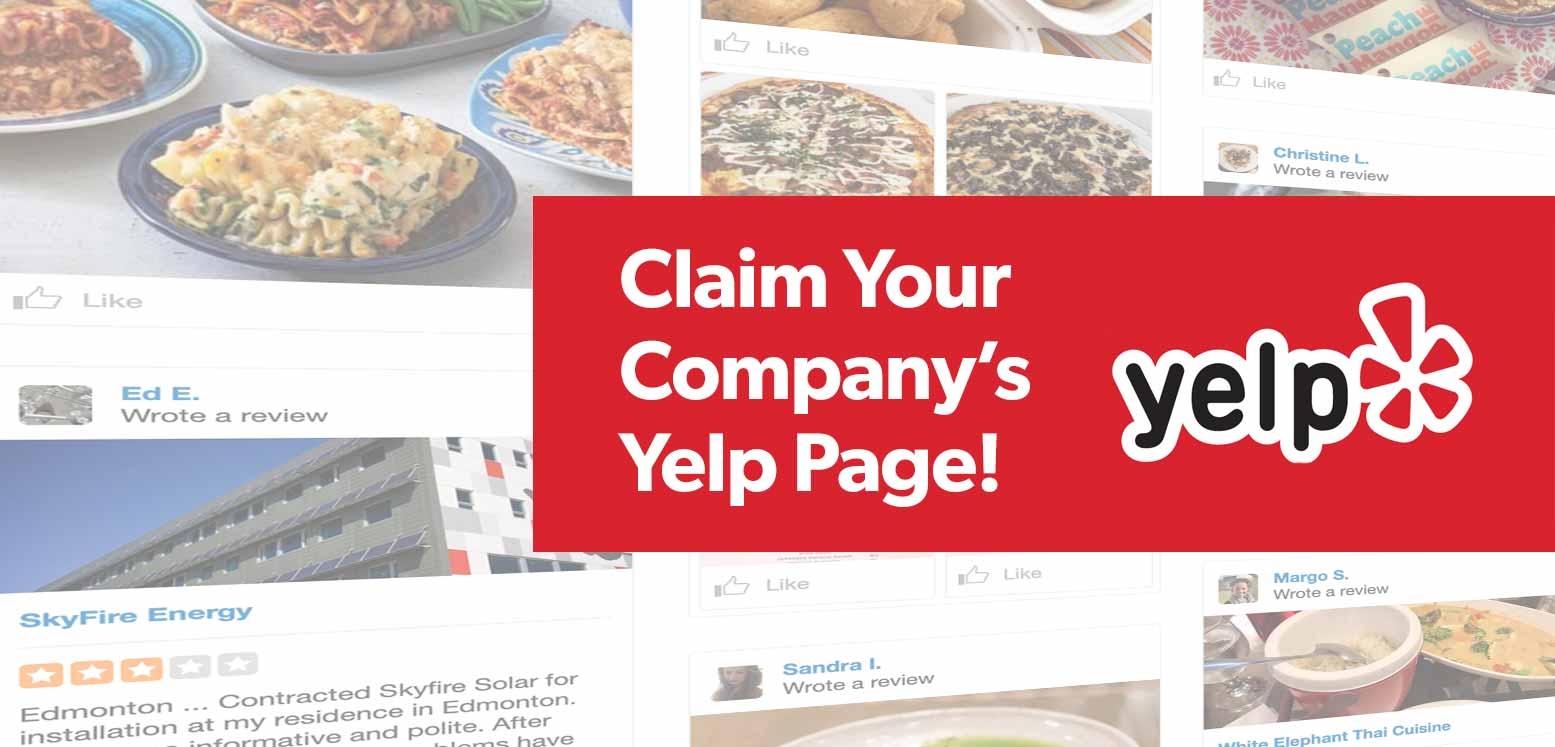 Claim Your Company's Yelp Page Today!